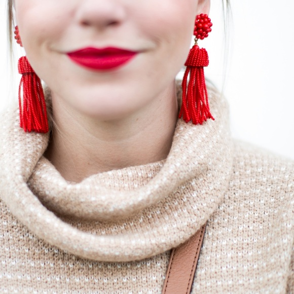 Lisi Lerch Jewelry - Red Tassel Lisi Lerch Earrings